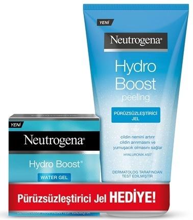 Neutrogena Neutrogena Hydro Boost Water Gel 50 ml + Peeling Jel 150 ml Renksiz